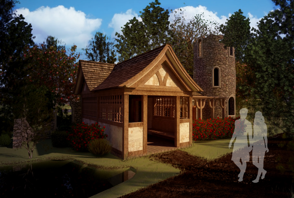 Peasant Folly, 2018.  Revit, VRay, and Photoshop.