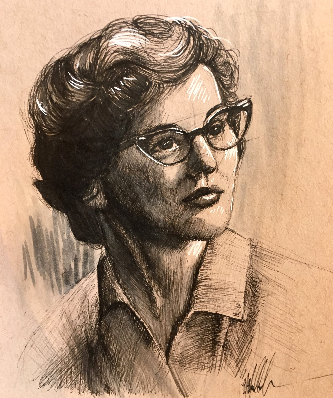 MaryAnn, 2018.  Ink.