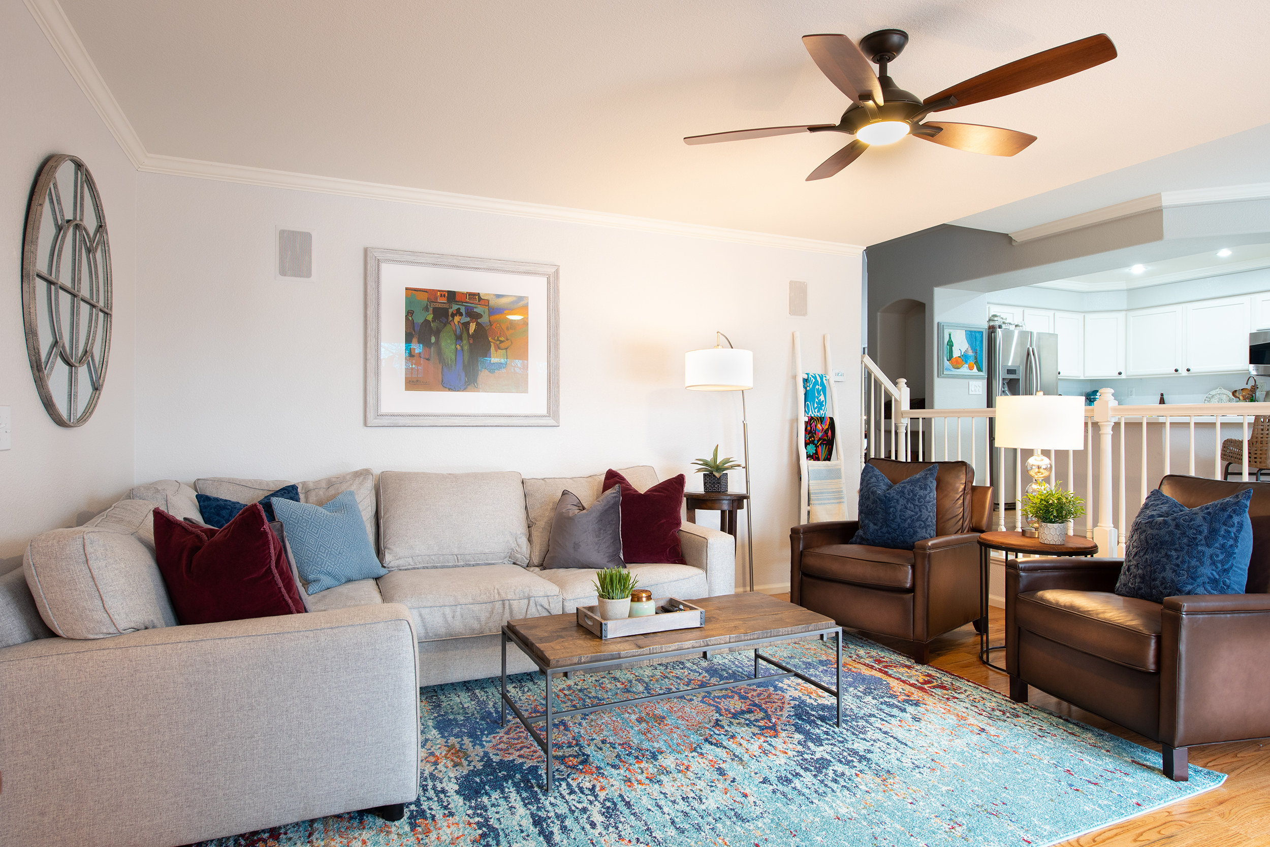 Living Room with Color