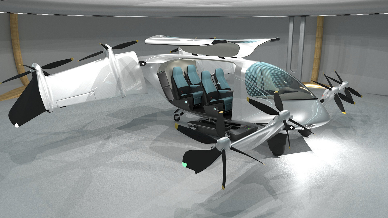 Side Egress Tilt Wing eVTOL | Cabin Interior