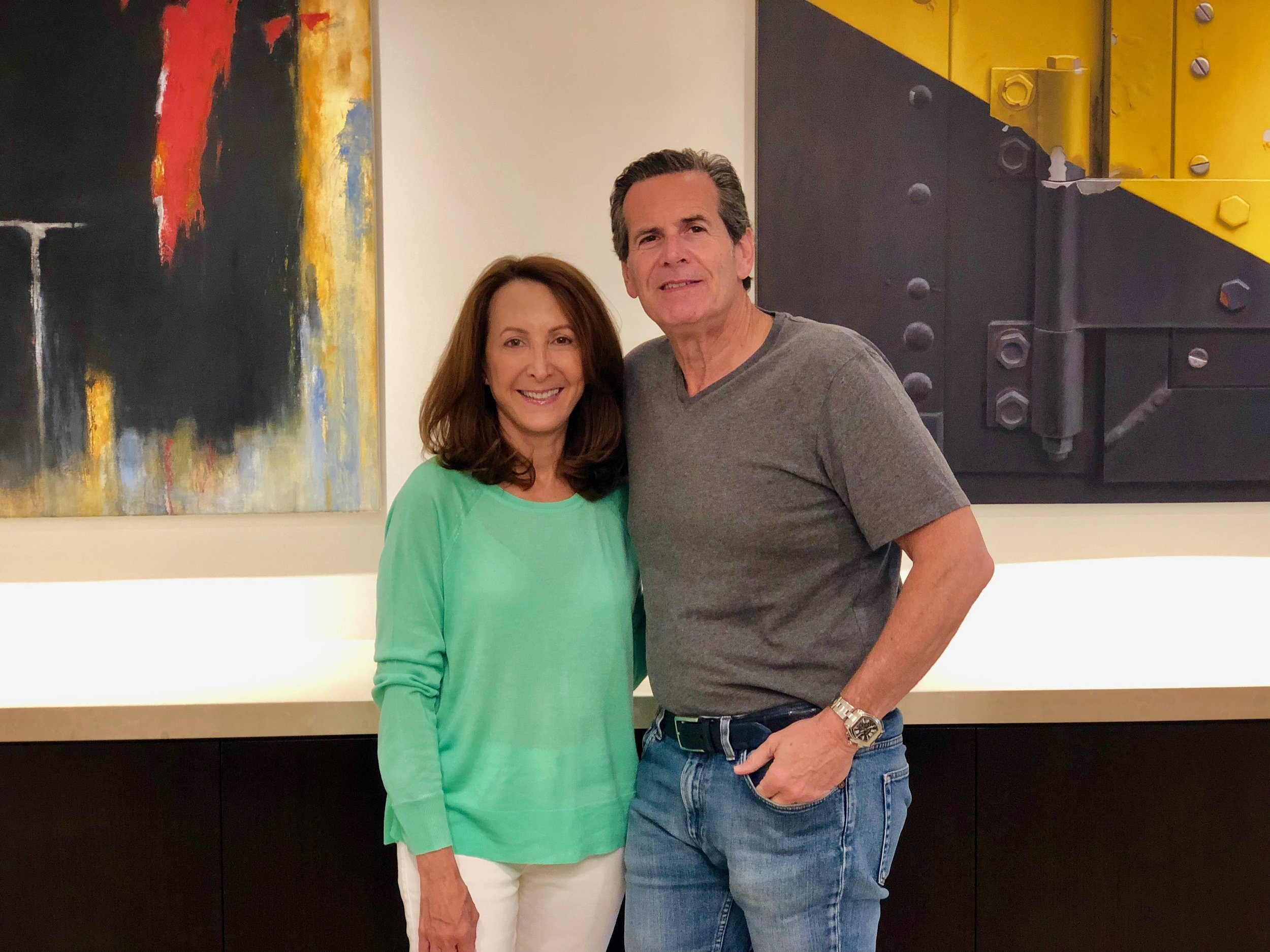 Collecting art has been a shared passion and hobby for my husband Bruce and I for over 25 years. So many amazing memories of art walks and gallery openings.