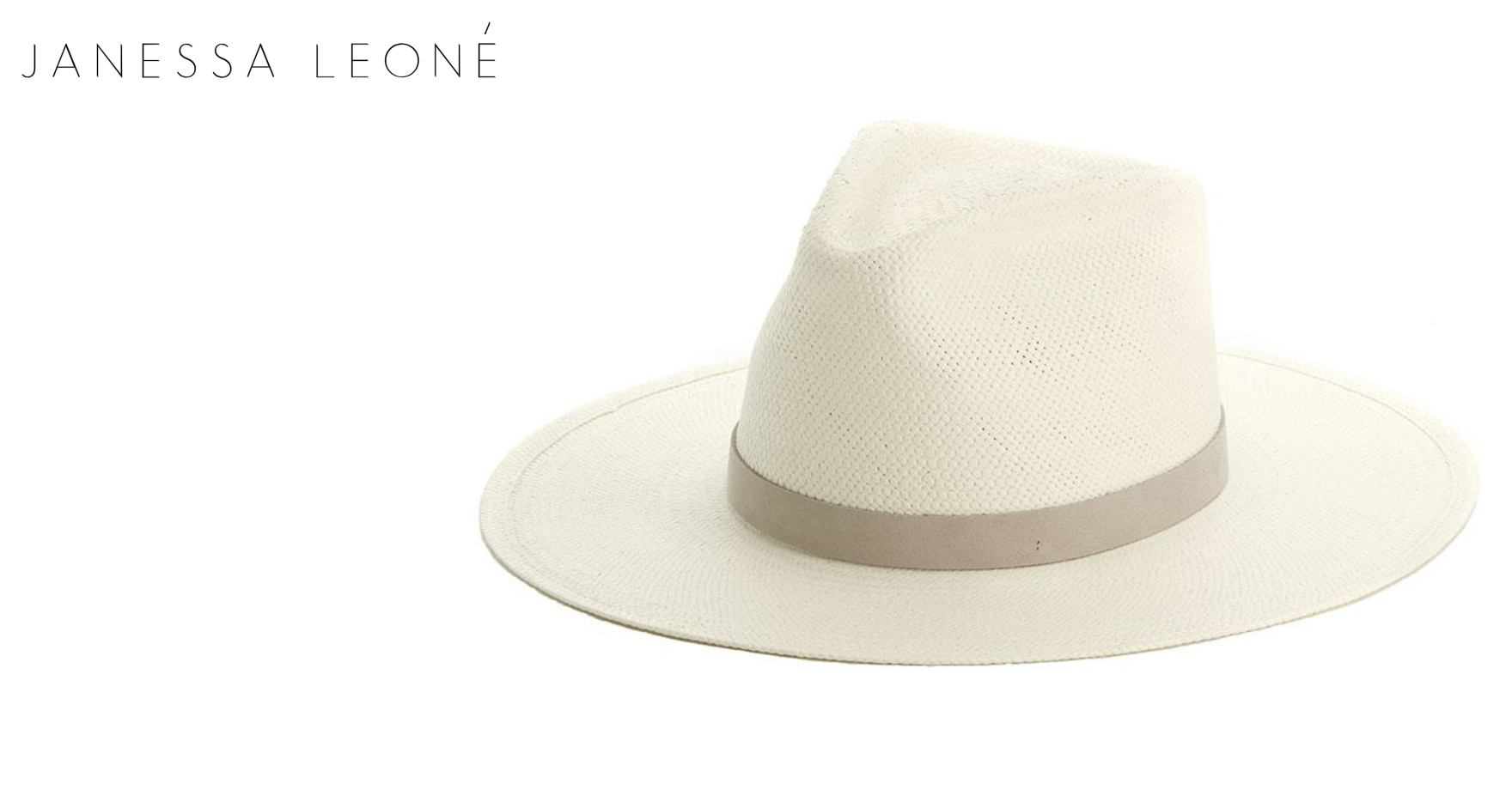 Janessa Leone' Packable Straw Hat