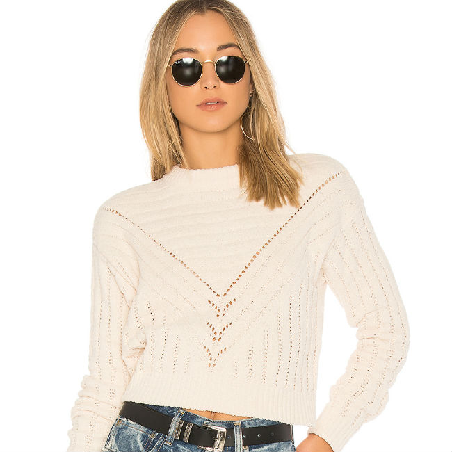 Lovers + Friends Moon Crop Sweater