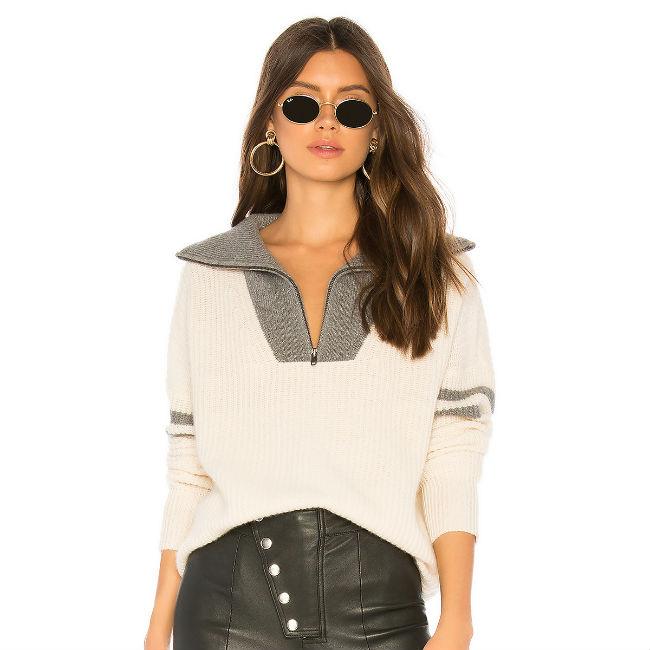 360 Cashmere Nichola Half Zip Sweater