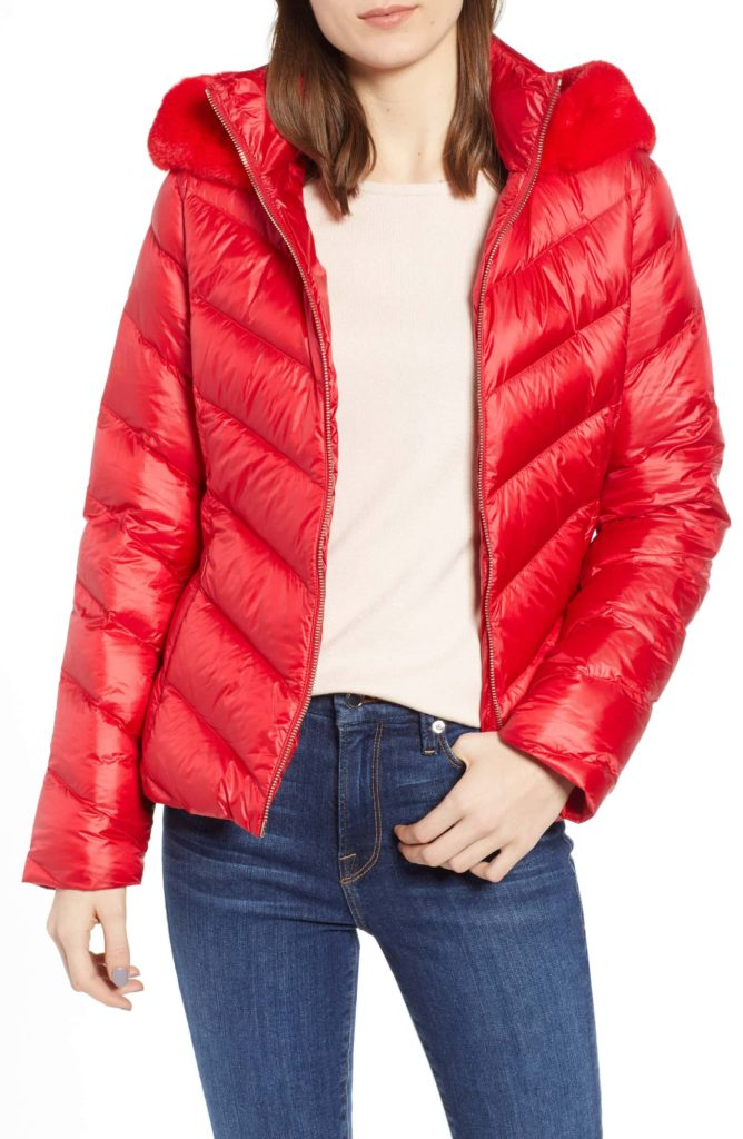 Ted Baker Red Puffer Jacket