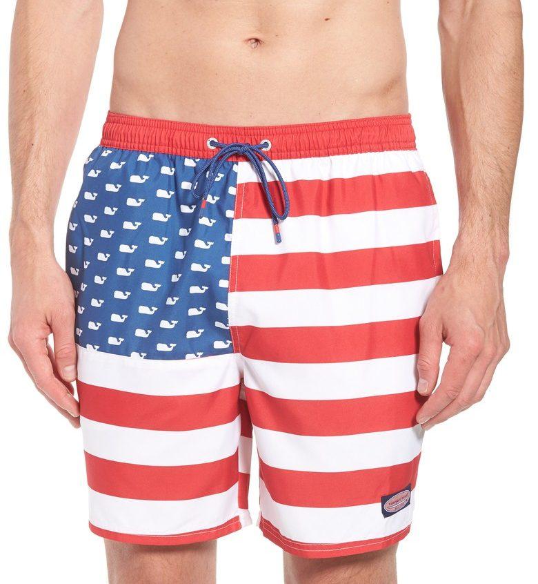 CHAPPY USA Flag Swim Trunks