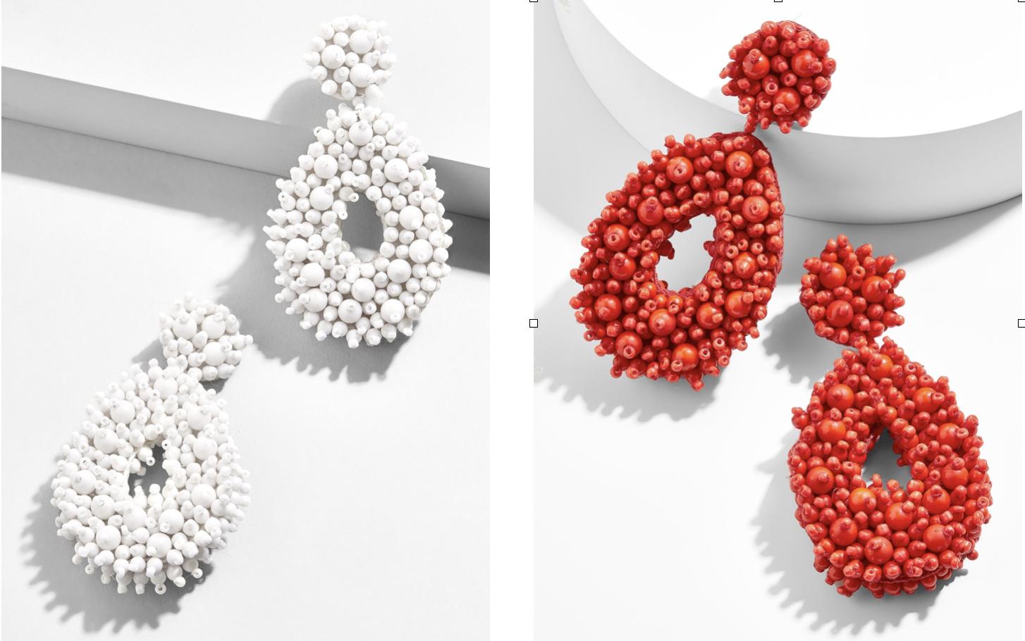 Red Or White Baublebar Drop Earrings