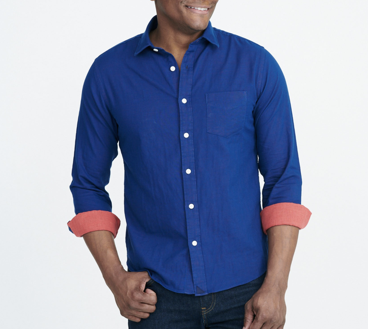UNTUCKit Navy And Red Men's Shirt