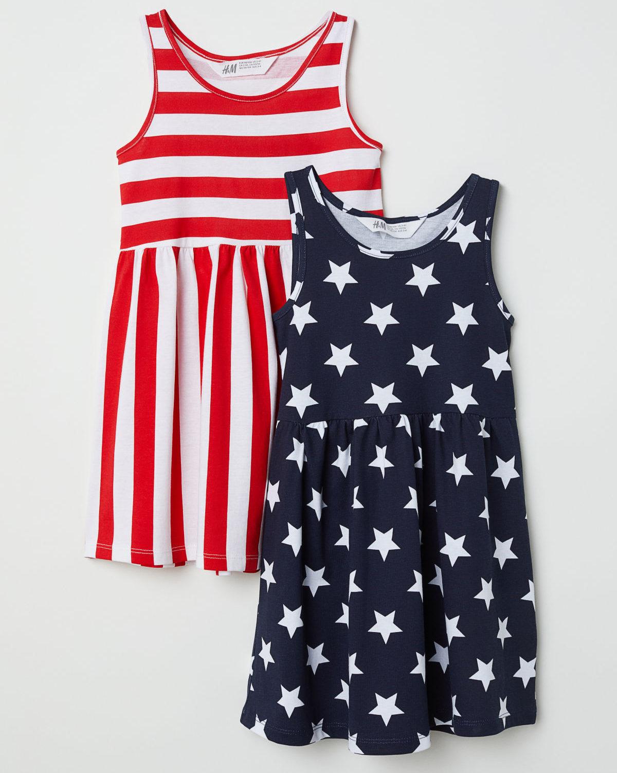 2-Pack Patriotic Jersey Dresses