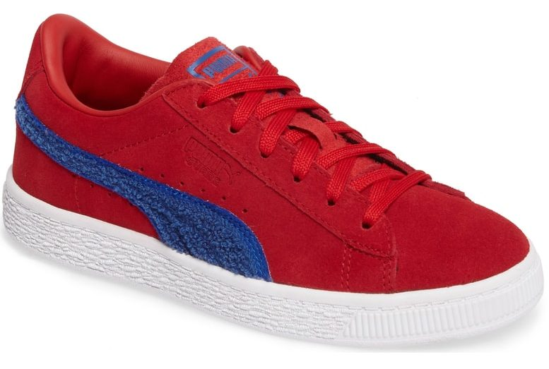 Red And Blue Terry Puma Sneakers