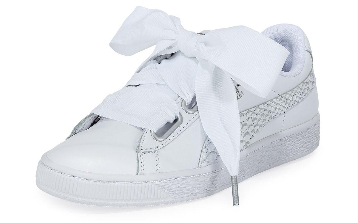PUMA – Basket Heart Oceanaire Ribbon-Laced Sneaker