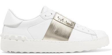 Valentino – Two Tone Metallic Leather Sneaker