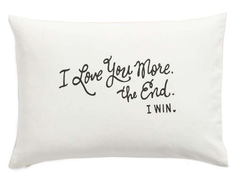 I Love You More Accent Pillow