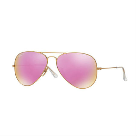 Ray-Ban Mirrored Polarized Aviator Sunglasses