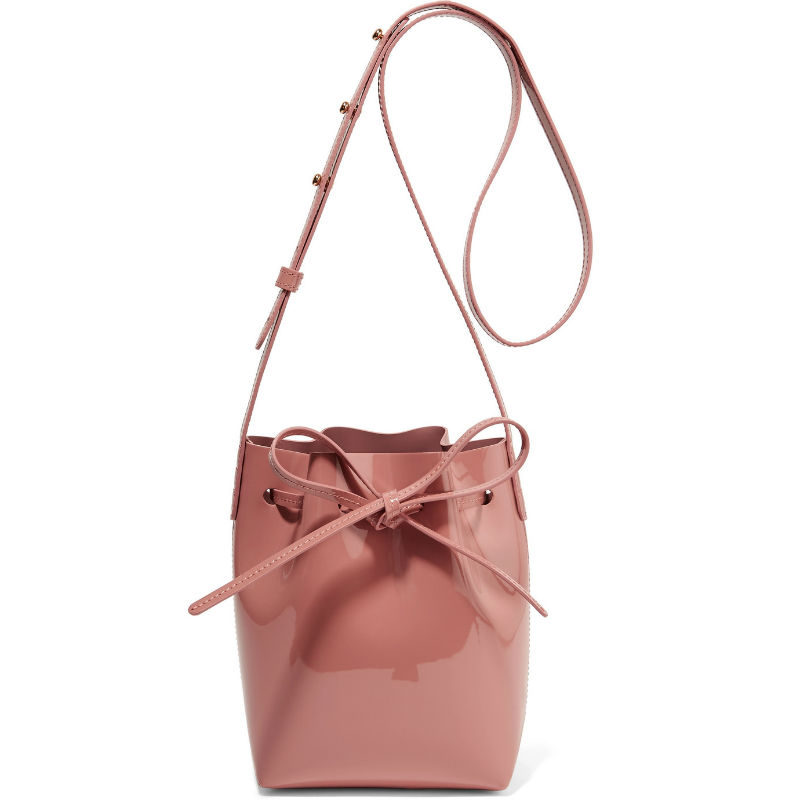 Mansur Gavriel Mini Patent Leather Bucket Bag
