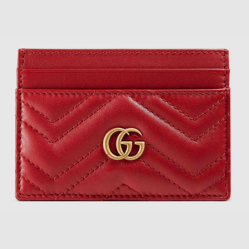 Gucci Marmont Red Card Case