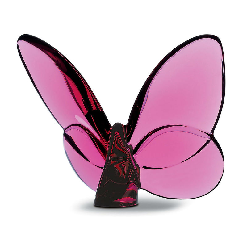 """Baccarat """"Lucky"""" Butterfly, Peony Pink"""