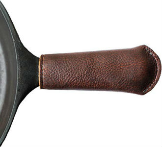 Amazon: Leather Cast Iron Skillet Pan Handle Cover