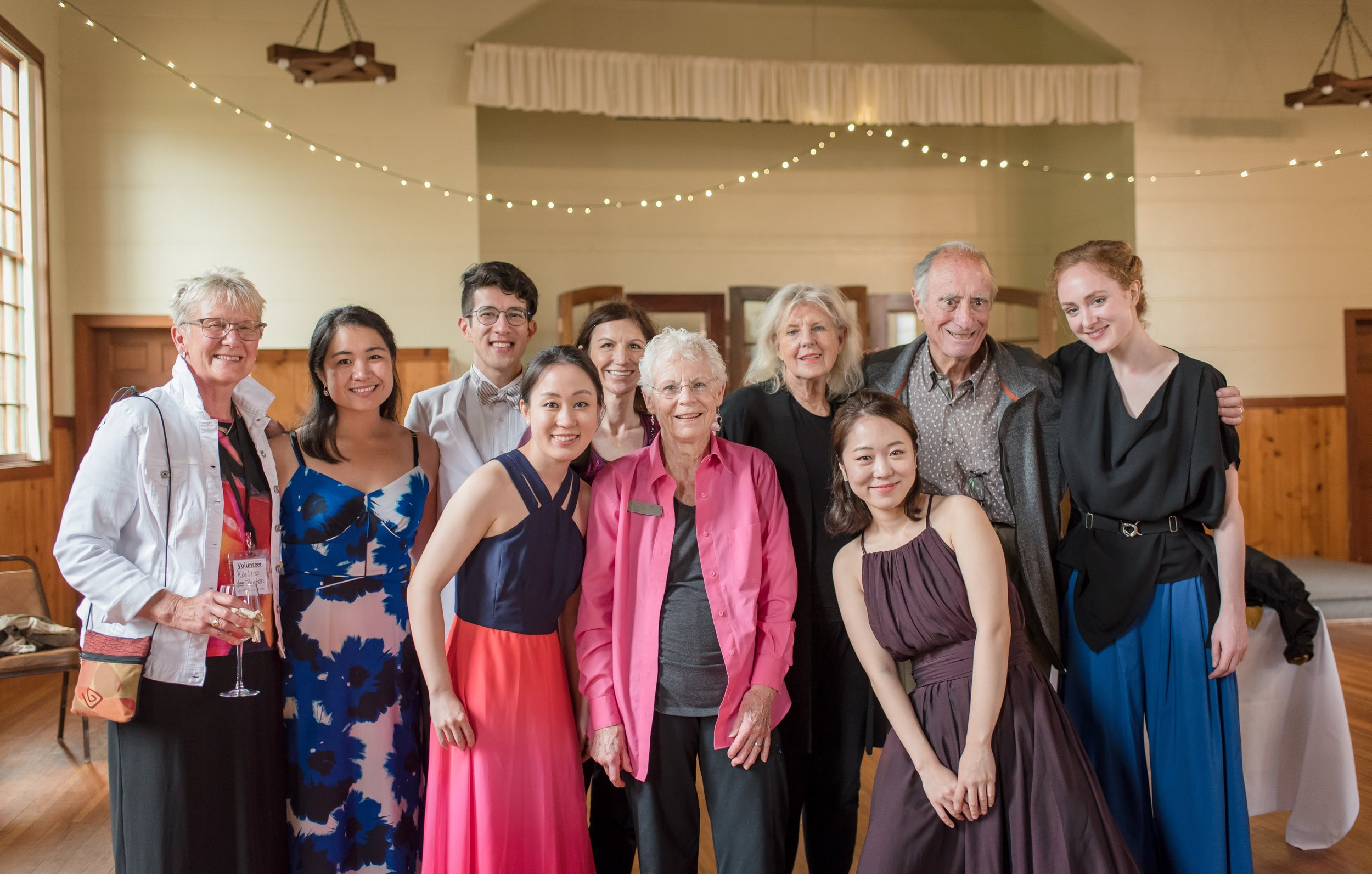 OMF Board Members with the 2018 Olympic Chamber Music Fellows