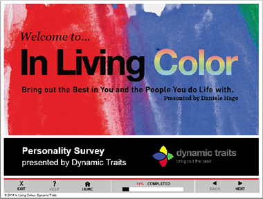 "- Dynamic Traits is a commercial customer that provides personality training to corporate and non-profit organizations. The ""In Living Color"" personality survey is an empowering learning tool that focuses on improving communication skills and reducing conflict in relationships – both personal and corporate. Using the four main ""colors"" the results of the survey assist in identifying each individual's unique behavioral traits. Prior to engaging with Soul Tree, Dynamic traits was delivering its training sessions strictly in person. Through a combination of Soul Tree's hosted Learning Management System, graphic artists, multimedia and application development, Soul Tree enabled Dynamic Traits to deliver their training as a revenue generating e-learning module. The addition of this new capability has enabled Dynamic Traits to monetize its existing customer base with ""new"" subscription revenue and broaden its reach to new customers with a cloud based training application."