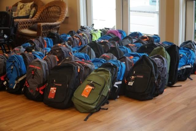 Yearly back pack drive for local students in need