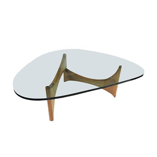 Mid Century Modern Glass And Wood Coffee Table Barkeaterlake Com