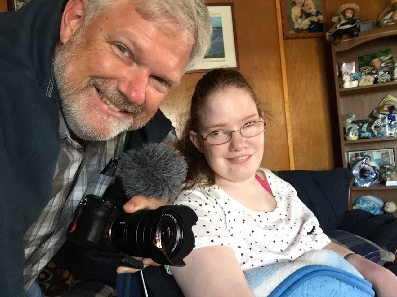 Kevin with Candice Lewis, whose doctor suggested Medical Aid in Dying, in NFLD, Canada