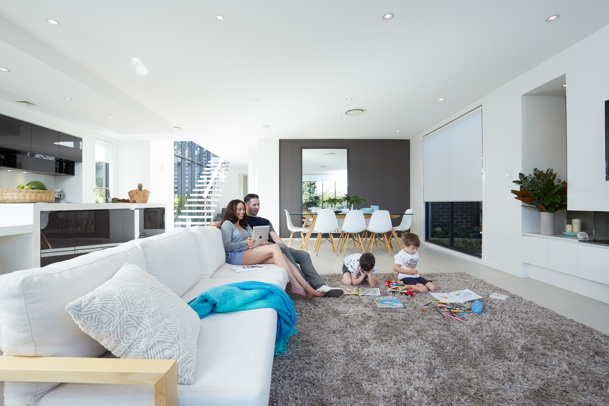 KEEPING COOL AT HOME - Stay cool in summer and warm in winter with wall mounted split systems, multi systems, ceiling casette units and ducted air conditioners.