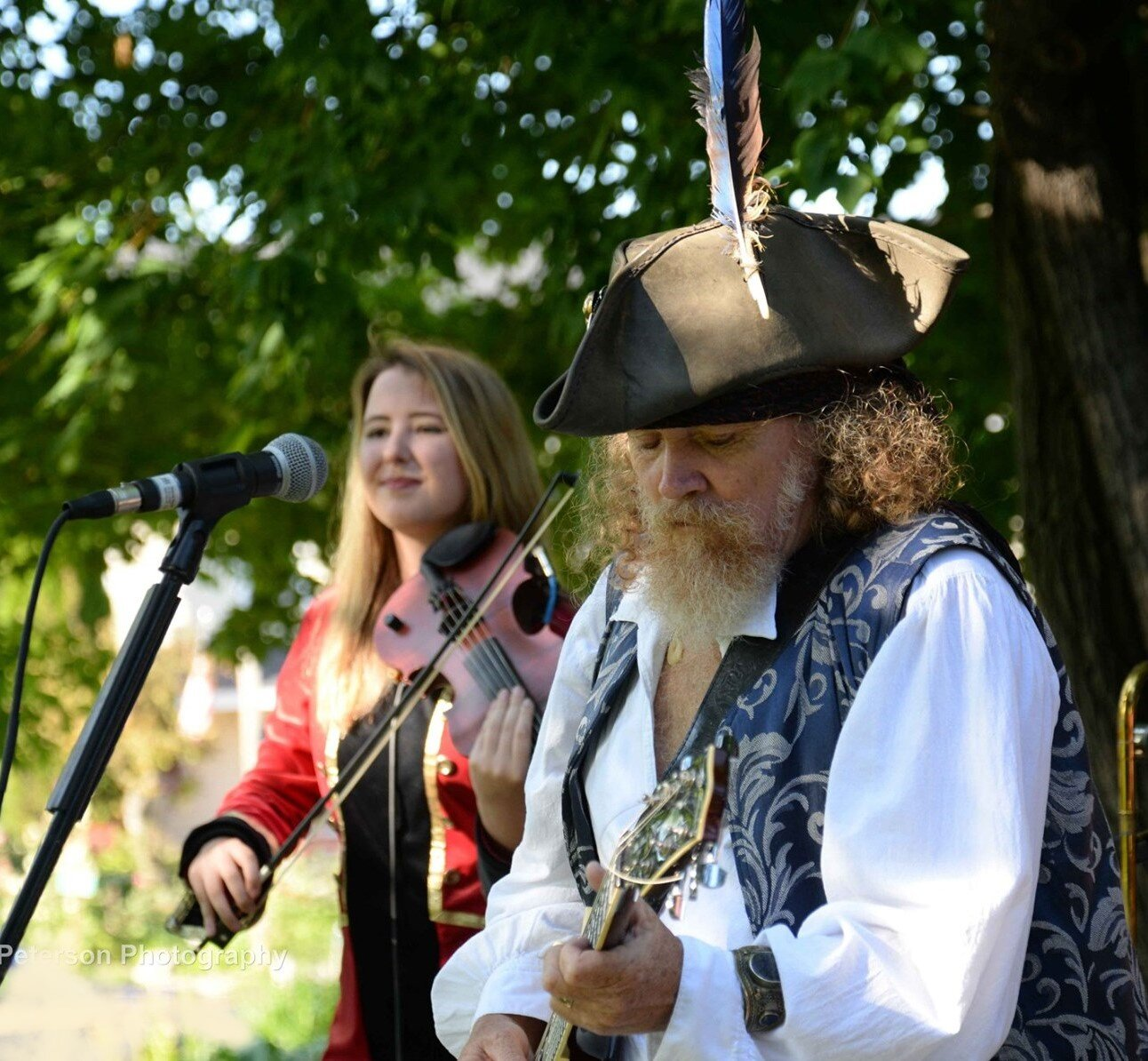On tour for several weeks in the Great Lakes area with Tom Mason and the Blue Buccaneers. I've always wanted to be a pirate. So I got to be a singing, fiddle playing pirate at music festivals, yacht clubs, venues, and street dances all over Michigan, Wisconsin, and Minnesota.