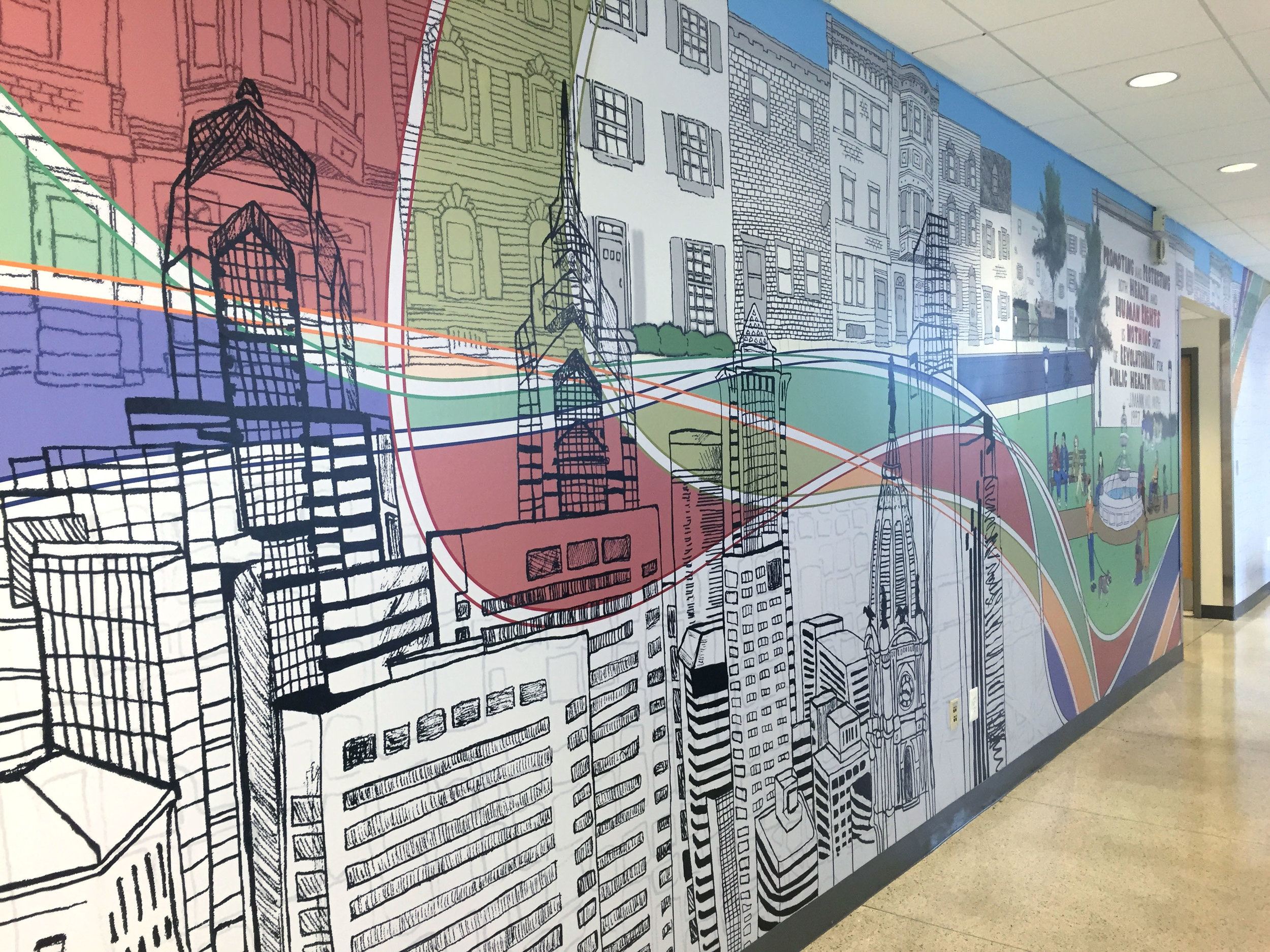 Drexel School of Public Health Mural