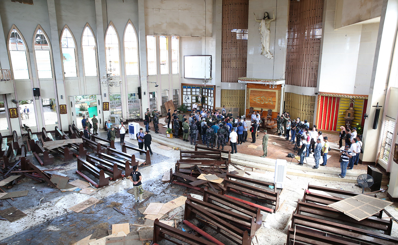 Aftermath of the Jolo Cathedral Bombing - In January 2019, a bombing of a Jolo cathedral in the Philippines killed twenty people and injured over one hundred.