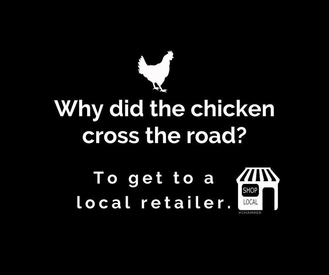 #FinalFridayThoughts #supportyourneighbor #Shoplocaldontbeayokel #Chickenjoke