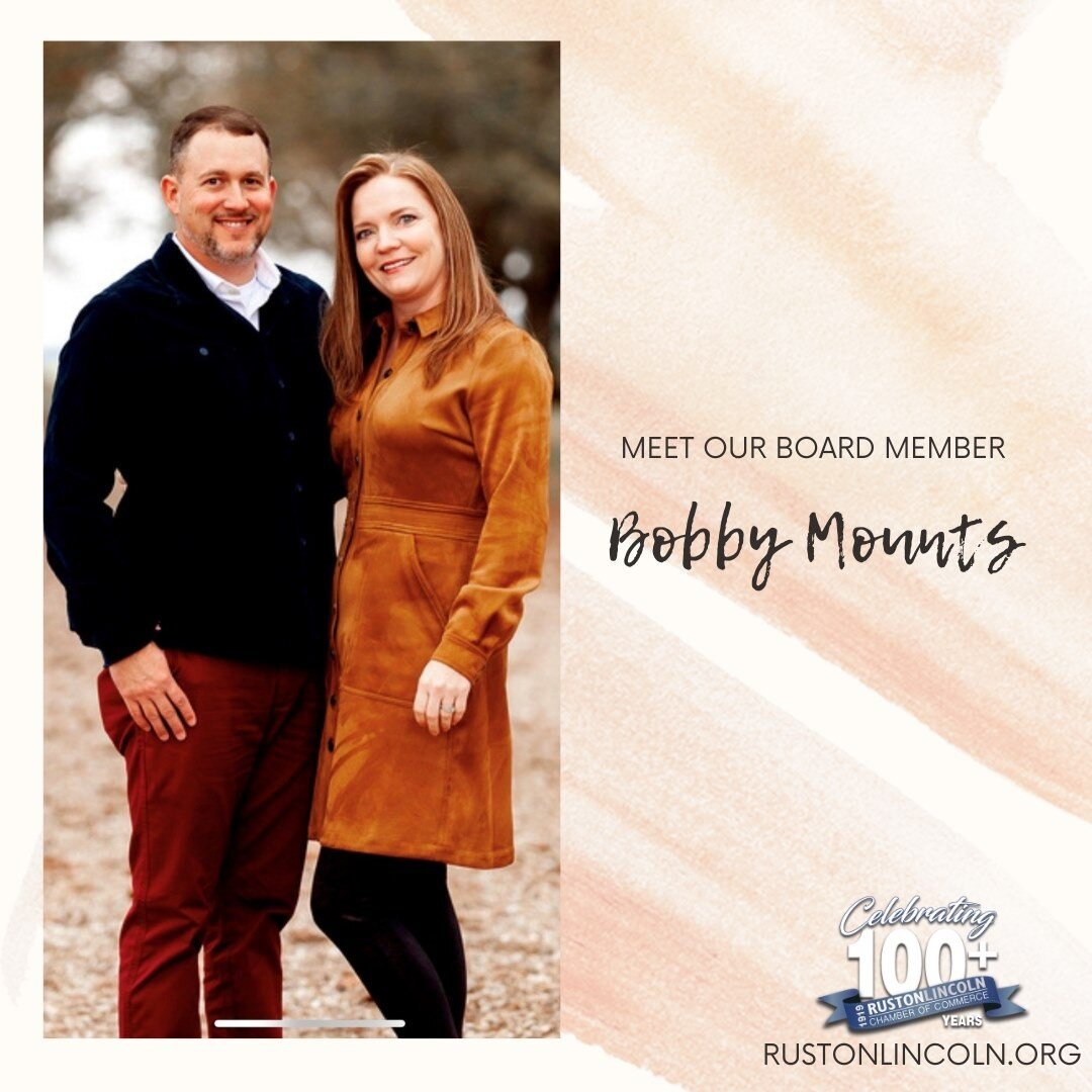 Meet our Board member, Bobby Mounts. Owner/Operator: PJ's Coffee of New Orleans - Ruston (318) 543-0311  What did I want to be when I was young? In 1st grade my dad was stationed at a Navy base in Millington, TN. There were Marines on base and I would watch them from the front porch as they ran in formation and sang cadence. The first time I saw that, I knew I would be a Marine one day. I enlisted when I was 22, months after 9/11.  If I could choose to do anything for a day, what would it be?  I would fly fighter jets! Taking off and landing on a carrier would be the icing on the cake.  What would I sing at Karaoke night? Probably anything by Journey. I sound just like Steve Perry if it's loud enough and I can't hear myself.  Do I prefer to listen to the radio, podcasts, or other? I make my own playlists and listen to whichever one fits my mood at the given time. I used to make mix tapes by recording the radio when my favorite songs came on. It's so much easier now!