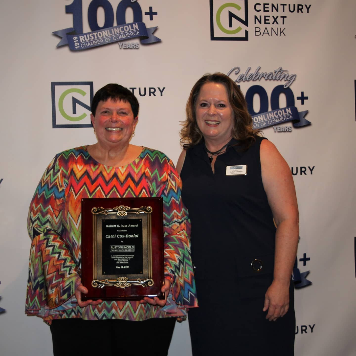 Cathi Cox-Boniol was presented the Robert E. Russ award for 2020 last night at our annual banquet. Congratulations Cathi!  Check our Facebook @rustonchamber for more pics and all the winners. Thanks to everyone who joined us to celebrate!