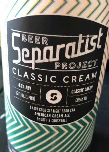Separatist Beer Project Classic Cream Ale