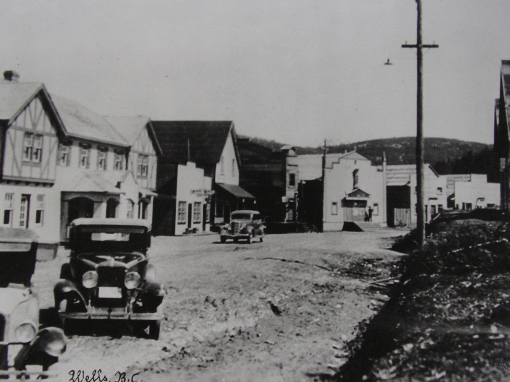 Pooley Street, Wells, BC, 1930s