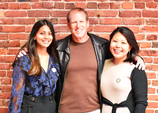 Anita and Rei, co-founders of The Grand, with Grand Guide Jaime Richards