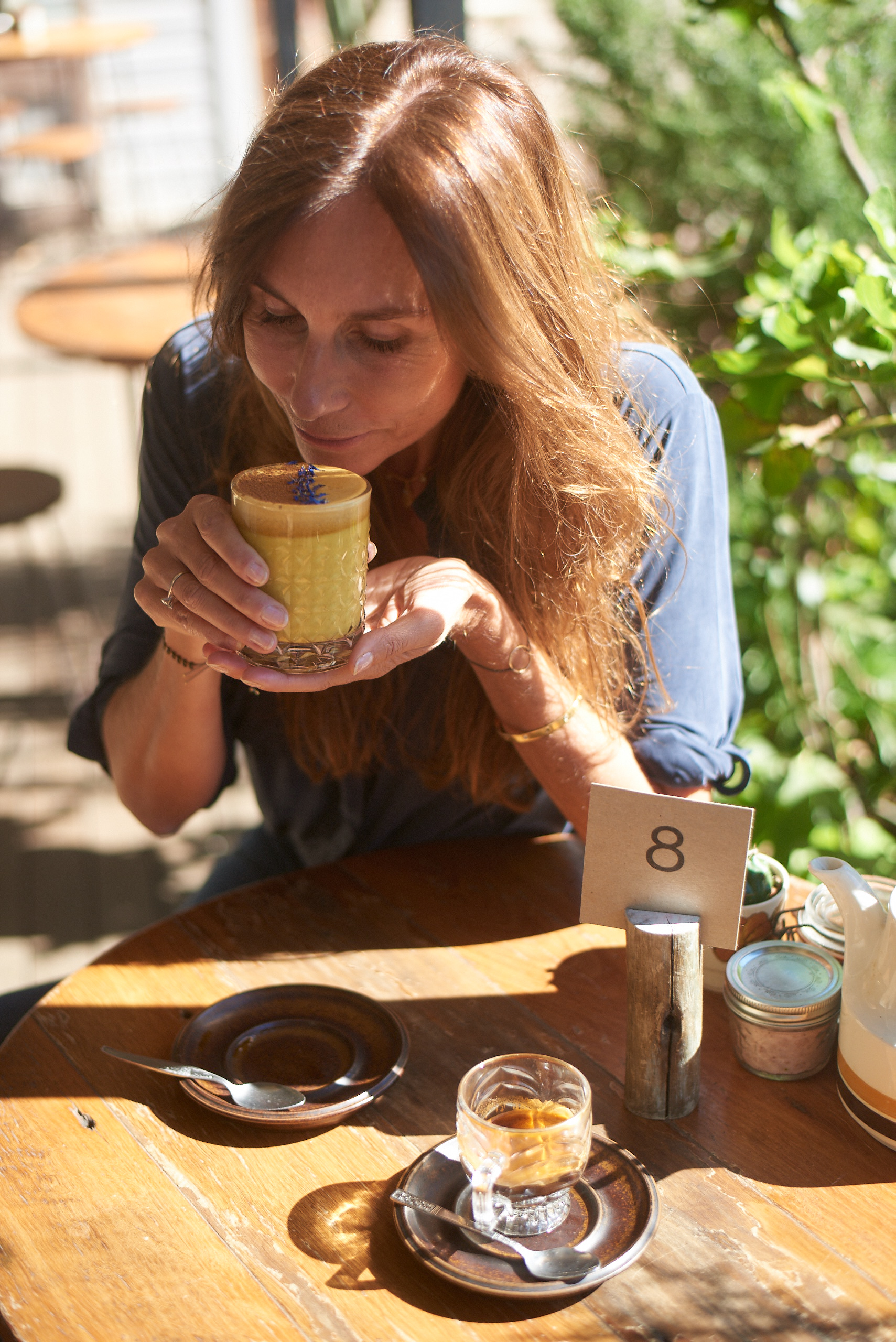 Tumeric Lattes on Nut Milk @  Woods Bangalow