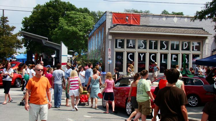 5 Points in East Nashville during the annual Tomato Arts Fest