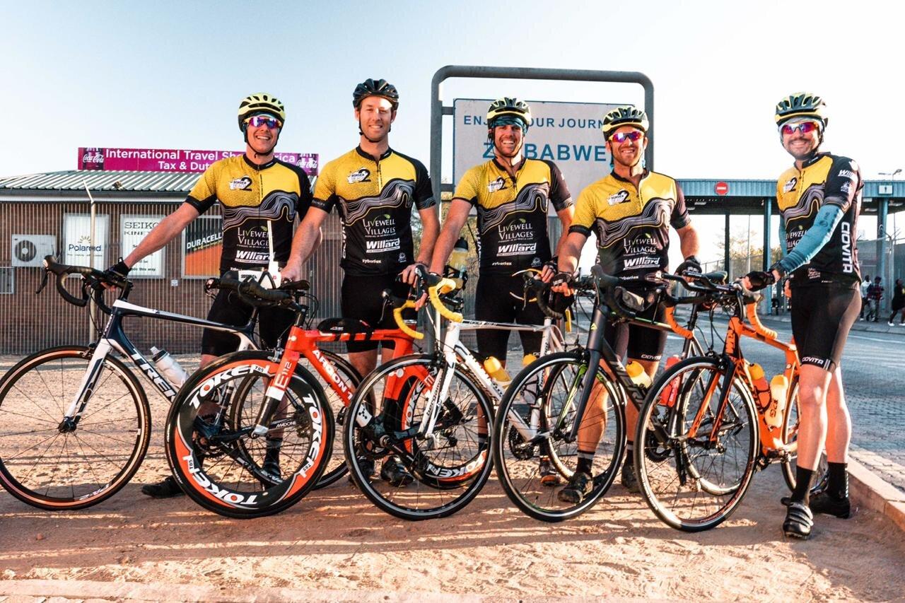 Left to right; Lyle Anderson, Pete Walker, Struan Anderson, Gareth Myles and Simon Clayton.