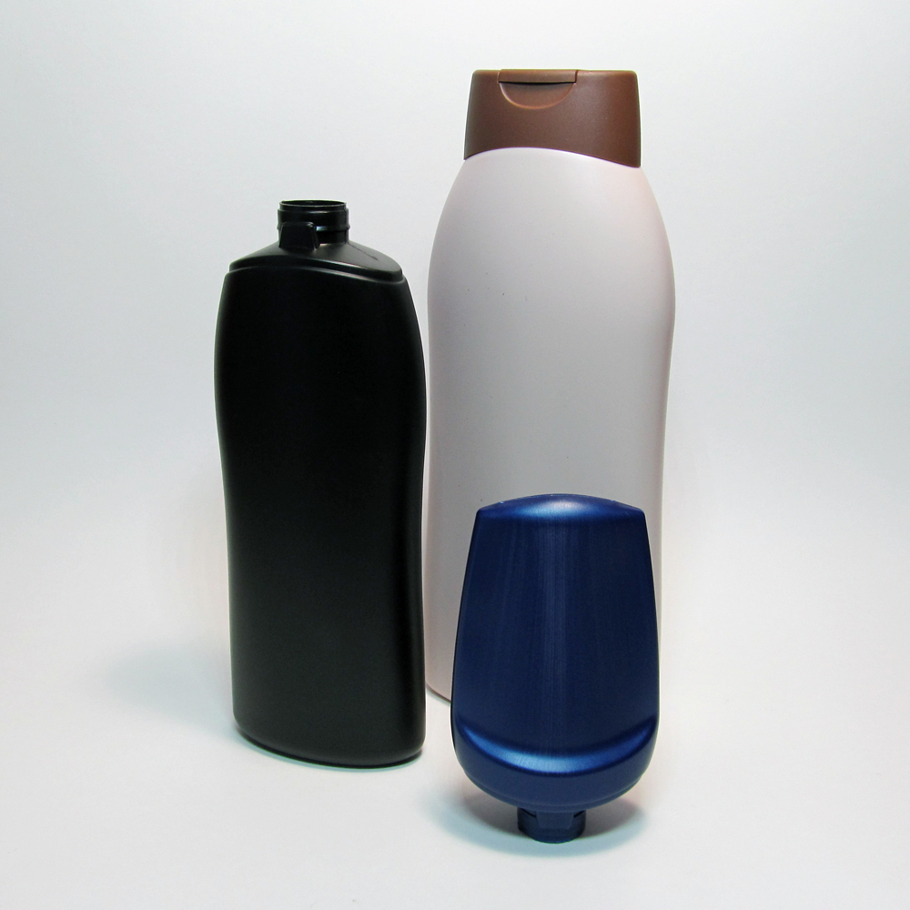 Curved lotion bottles.