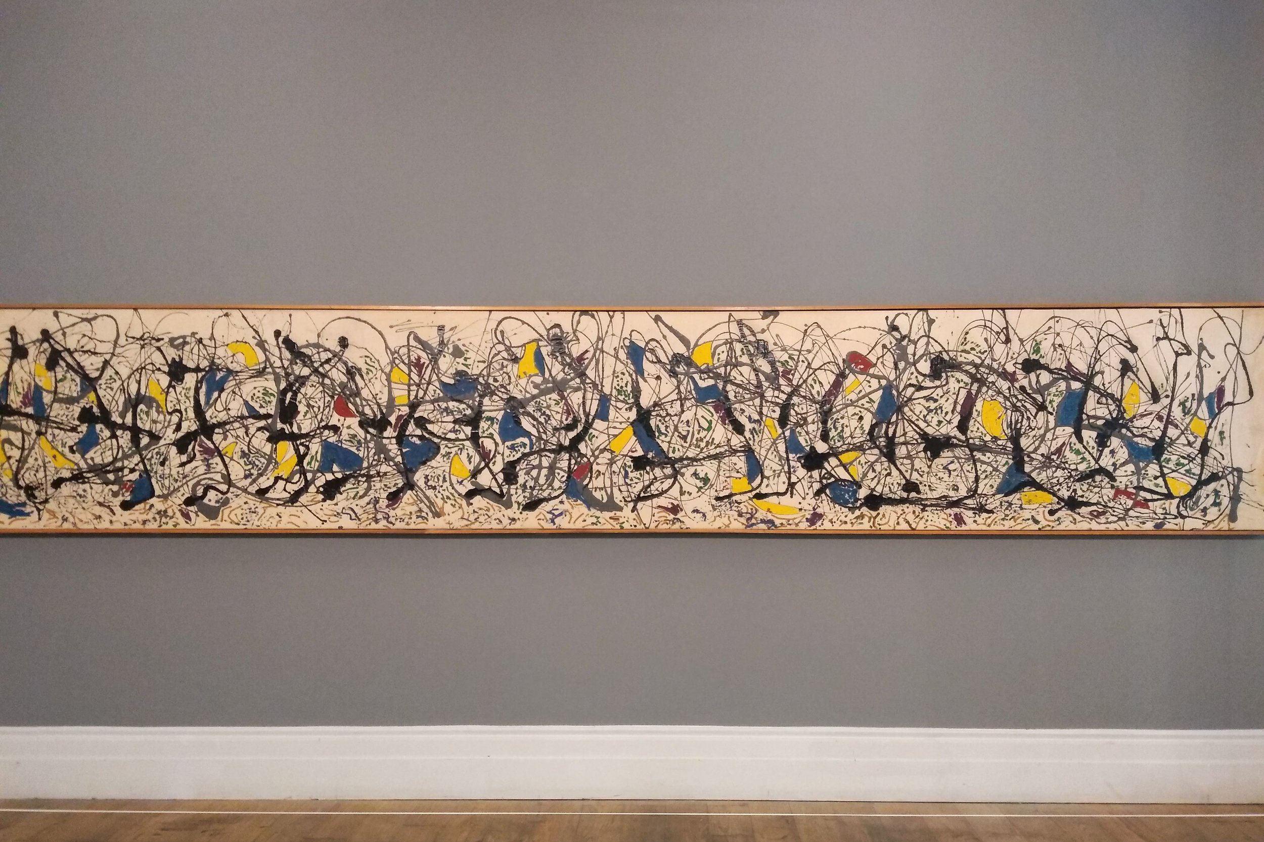 Summertime 9A  (1948). Installation shot, Staging Jackson Pollock, Whitechapel Gallery. London