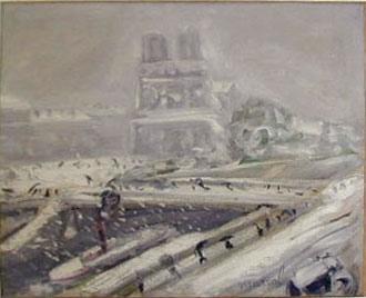 Notre Dame de Paris, Jacqueline Marval c 1916. Oil on canvas, 65 cm x 81 cm. Private Collection, Moscow.