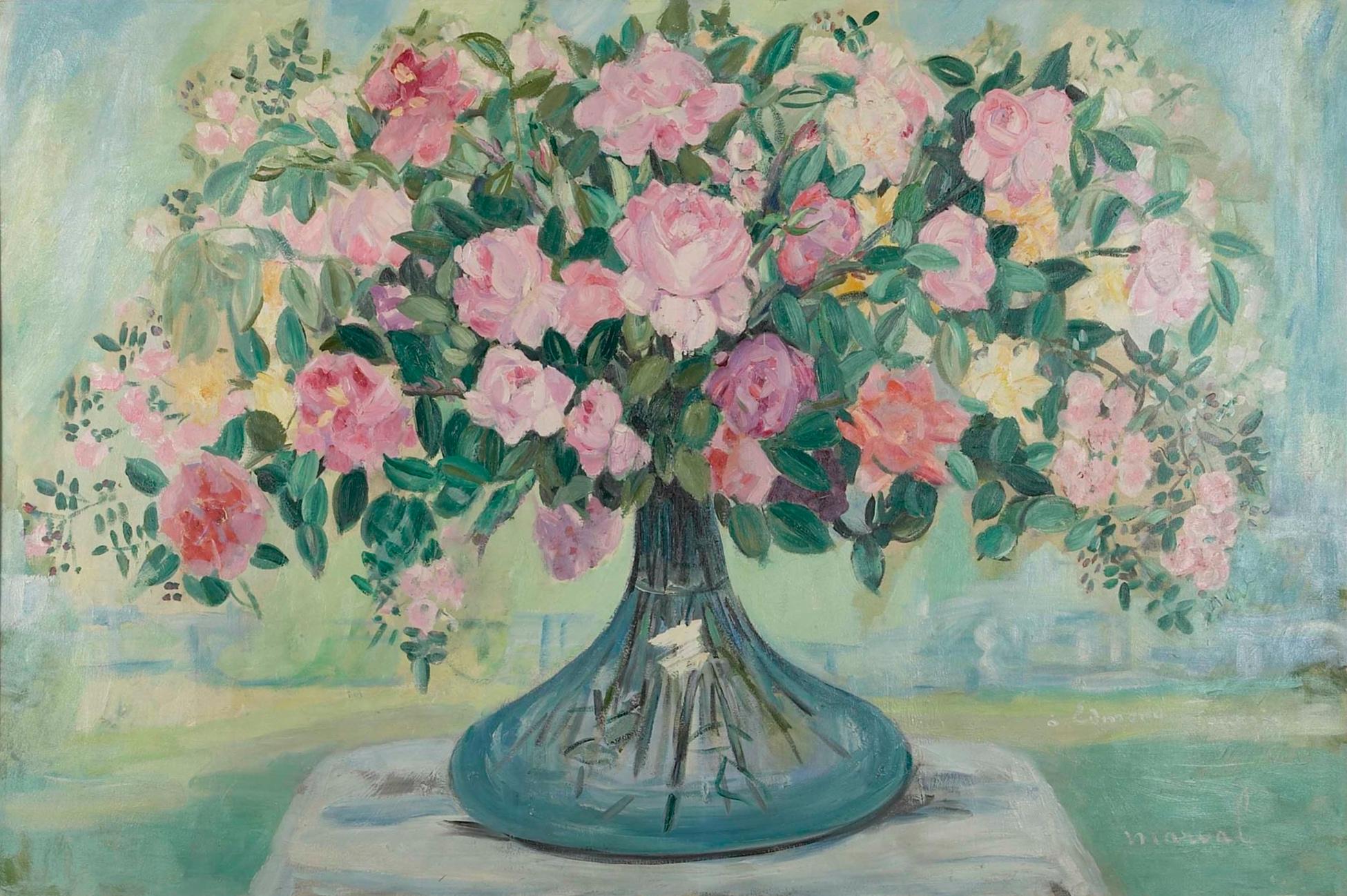 Grand Bouquet de Roses, Jacqueline Marval.