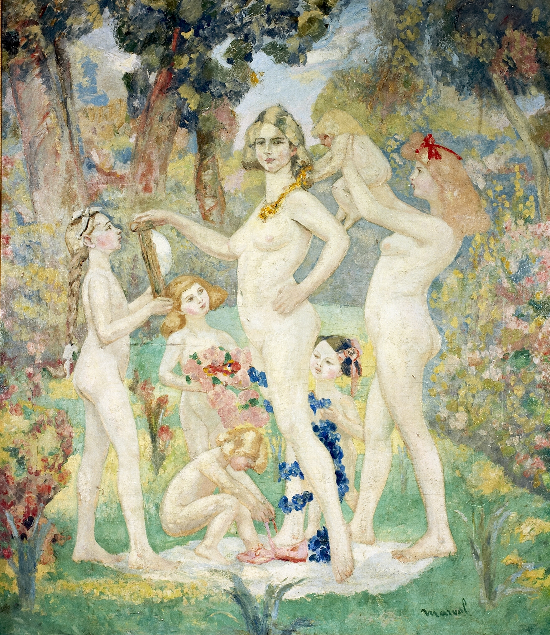 La Toilette du Printemps, Jacqueline Marval. Oil on canvas, 225 cm x 175 cm. Private collection, Grenoble.