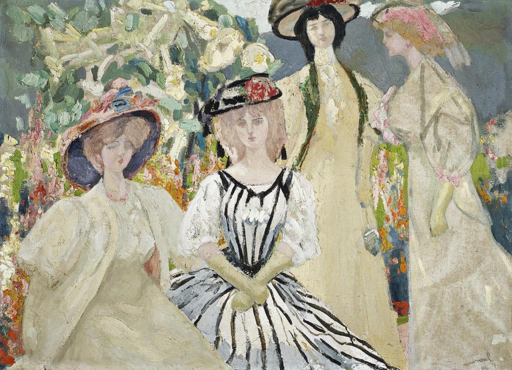 Les Neurasthéniques, Jacqueline Marval, 1906. Huile sur toile, 73 x 100 cm. Collection privée, Paris.