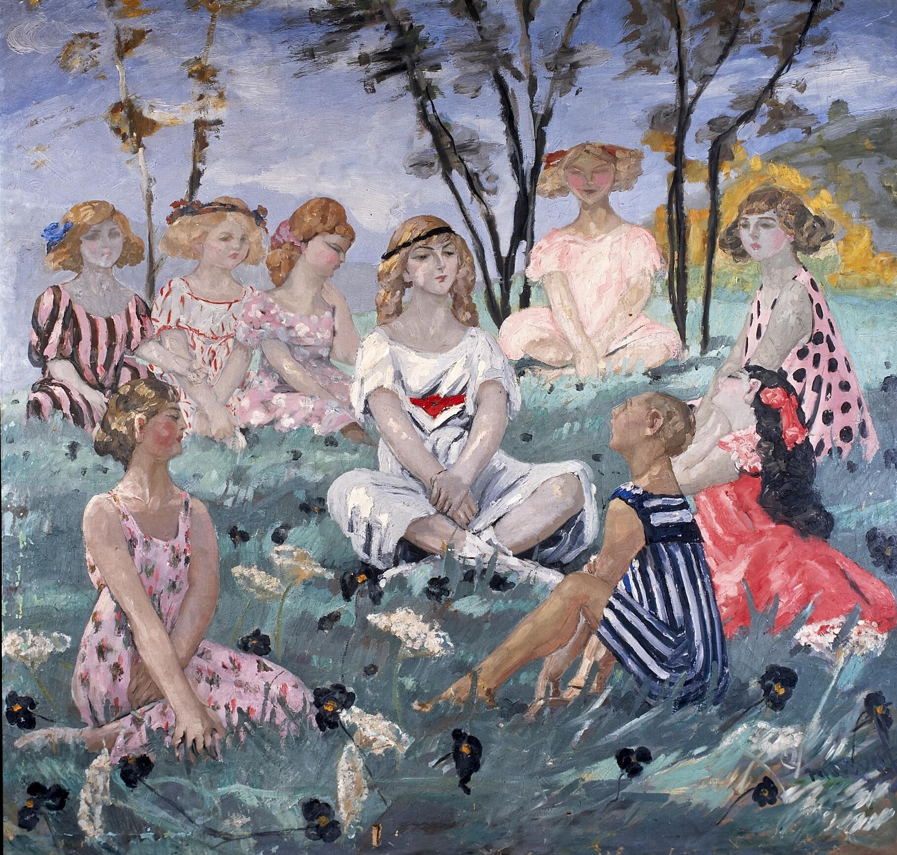Sylvie ou le Chant d'Adrienne. Huile sur toile, 220 x 200 cm. Collection privée.