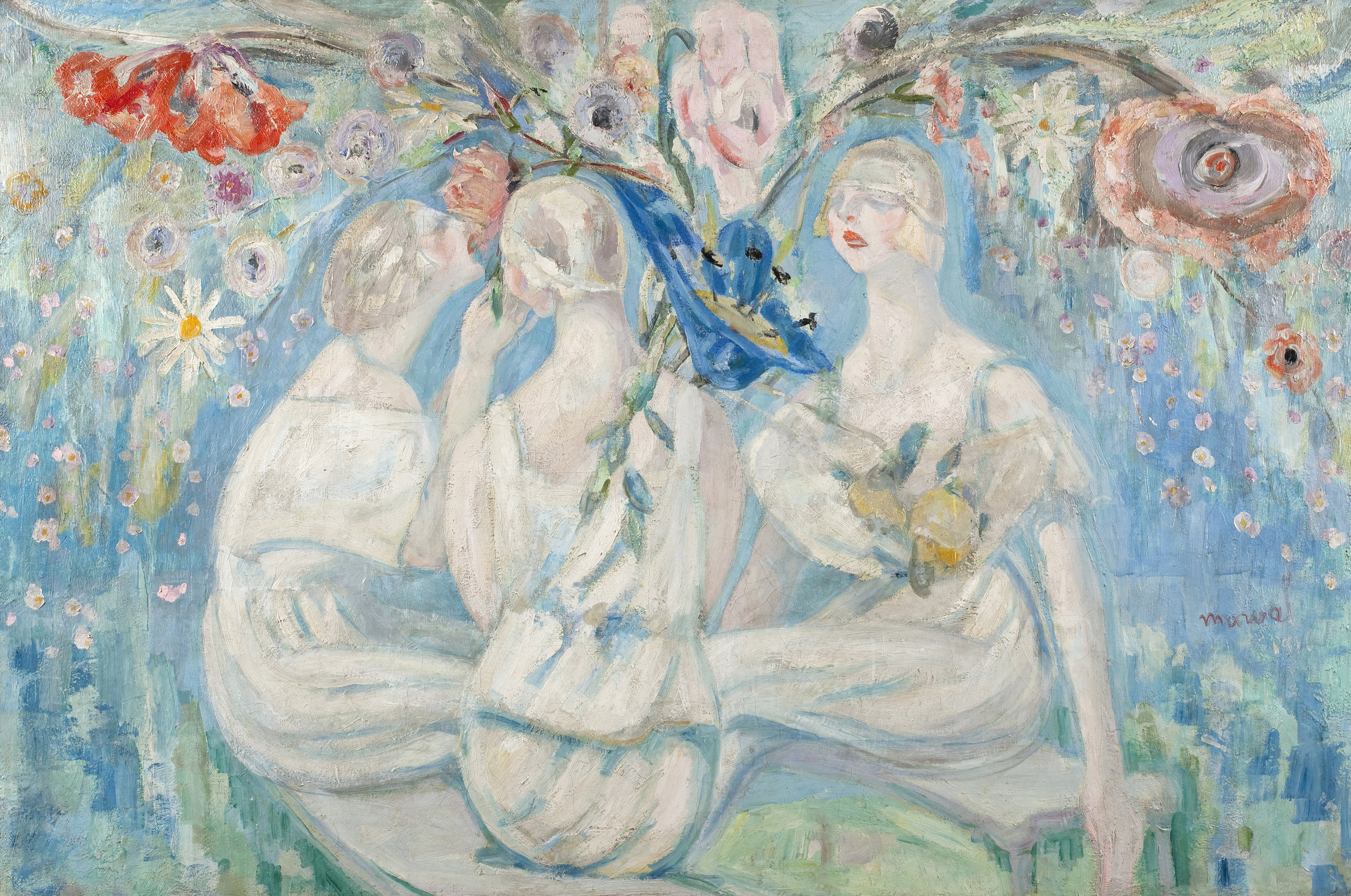 Un Bouquet pour la Victoire, Jacqueline Marval, c 1916. Oil on canvas, 130 x 195 cm. Private collection, Paris.