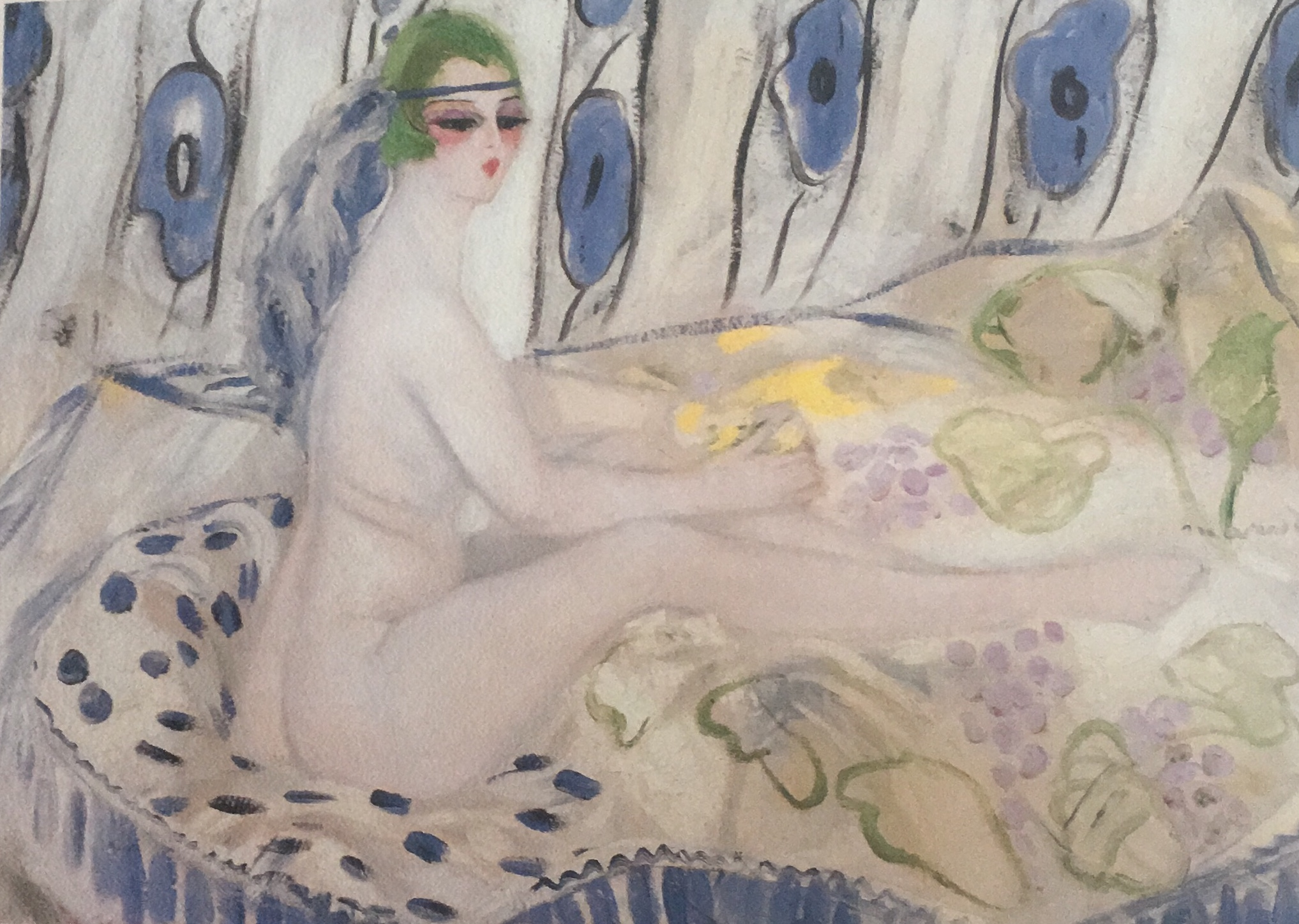 La Petite Cléopâtre, Jacqueline Marval, 1920. Oil on canvas, 0,995 m x 1, 37 m. Ohara Museum of Art, Kurashiki, Japon.