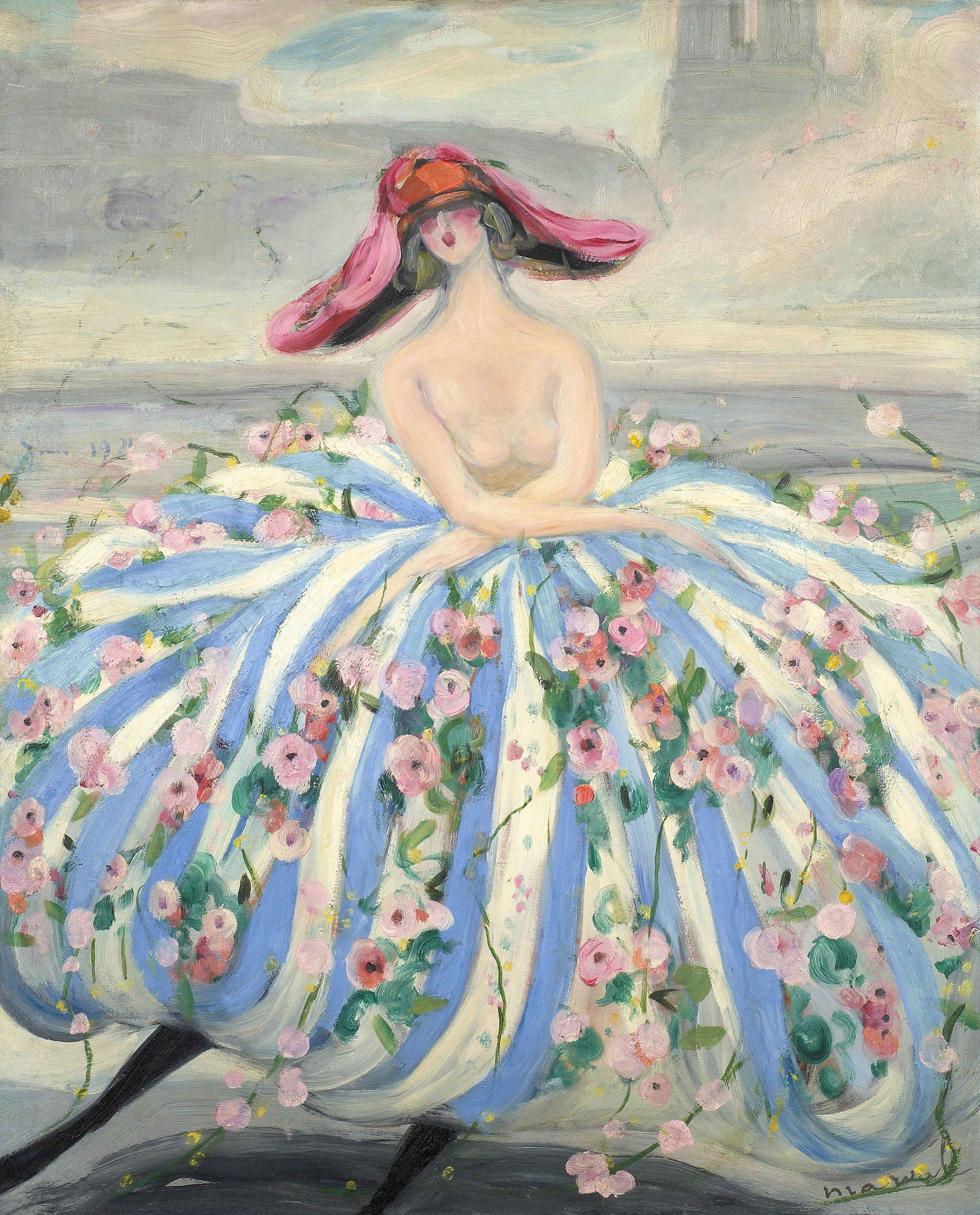 La Danseuse de Notre-Dame, Jacqueline Marval, 1921. Huile sur toile, 100 x 81 cm. Collection privée, Paris.